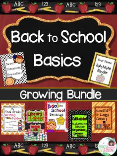 Save 30% in all of my Back to School resources with this GROWING BUNDLE! Anytime I add a Back to School resource to my store, it goes into this bundle, and you get it for free!