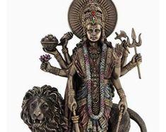 Durga Kali, Durga Goddess, Shiva Meditation, Krishna Statue, Lord Ganesha, Indian Art, Altar, Prints, Vintage