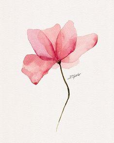 Watercolor painting #watercolour #watercolor #ink #illustration #drawing #art #watercolorart #painting #flowers #suluboya #suluboyaresim…