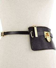 bcc33c7ce MICHAEL Michael Kors Belt, Lock Charm Leather Belt Bag Leather Belt Bag, Mk  Handbags