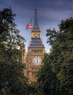 Big Ben Through The Trees at St James Park, London