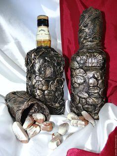 Купить Бутылка виски Бронзовая башня. Декор Jack Daniels Tennessee Honey. DJ - бронзовый
