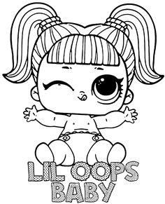Little doll LOL Surprise to color Free Coloring Sheets, Coloring Pages For Girls, Lol Dolls, Cute Dolls, Nyan Cat, Little Doll, Diy And Crafts, Hello Kitty, Snoopy
