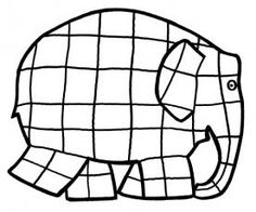 """The post """"Elmar elephant coloring page"""" appeared first on Pink Unicorn Schule Elephant Colour, Colorful Elephant, Small Elephant, Mondrian, Coloring Pages For Grown Ups, Coloring Pages For Kids, Paul Klee, Art Education Lessons, Art Lessons"""