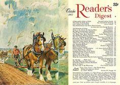 Readers Digest, American Artists, Vintage Art, October, Illustration, Artwork, Prints, Canada, Magazine