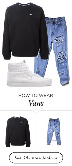 """8.29.15"" by lexytj3 on Polyvore featuring NIKE and Vans"