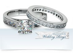 Take your life together to the next chapter with this beautiful Princess Channel engagement and wedding set!   http://www.brilliance.com/engagement-rings/princess-channel-diamond-ring-white-gold-1/2-ctw  http://www.brilliance.com/wedding-rings/princess-diamond-channel-eternity-band-white-gold    For inquiries or advice, you may call our dedicated gemologists at 866-737-0754!