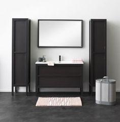 Badkamermeubel Wally, staand tijdloos meubel met tablet in polybeton, maakt van uw badkamer een elegante, designvolle omgeving!