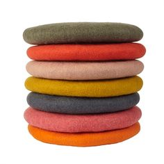fairtrade, handfelted cushions by a tribe of women in nepal Peach, Gold & Charcoal color options