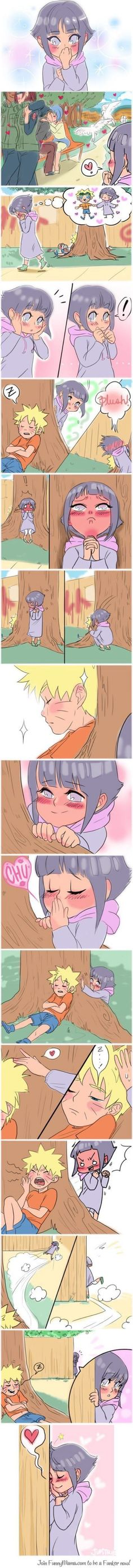 NARUTO Kawaii Kiss angel LOVE smile blush naruto kun Hinata