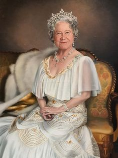 Her Majesty Queen Elizabeth was married to King George VI. She is the mother of Queen Elizabeth II. George Vi, Windsor, Reine Victoria, Queen Victoria, Victoria Queen Of England, English Royal Family, British Royal Families, Lady Diana, Prinz Philip