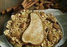 Dit heerlijk warme ontbijt heeft een lekker krokant korstje en zacht fruit. Een goed begin van een winterse dag.