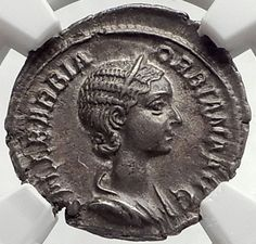 ORBIANA Severus Alexander Wife 225AD Rome Ancient Silver Roman Coin NGC i65262