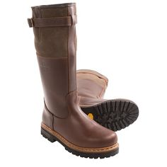 Alico Husky Leather Boots - Shearling Lining (For Men) in Brown