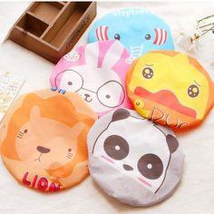 1 pcs Cute Cartoon Animal PVC Waterproof Shower Cap Bath Cap
