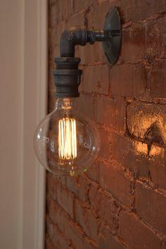Wandlampe Wandleuchte Industrial Wandleuchte von WestNinthVintage