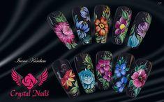 #zhostovo #nail #nailart #crystalnails