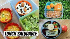 Lunch saludable para este regreso a clases: 3 recetas - YouTube
