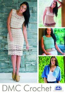 DMC Crochet LADIESWEAR Booklet DRESS, Tops and Bolero 14967L/2 - want to make this dress!
