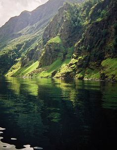 Green Fjord - Aurlandsfjord - Norway by malcolm bull, via Flickr #Norway ☮k☮ #Norge
