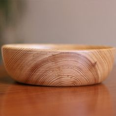 14.5cm Simple Pine Bowl - i think pine is timeless. Some people love it, some people despise it - its the marmite of wood!
