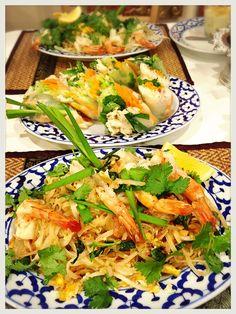 4月レッスン#1大人気なタイ定番麺料理!パッタイ・クン(タイ風焼きそば)