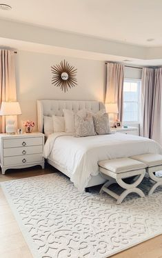 Modern Bedroom Design Trends and Ideas in 2019 Part bedroom ideas; bedroom ideas for small room; bedroom decorating i Dream Bedroom, Home Decor Bedroom, Master Bedroom, Bedroom Sets, Modern Bedroom Design, Formal Living Rooms, My New Room, Beautiful Bedrooms, House Rooms
