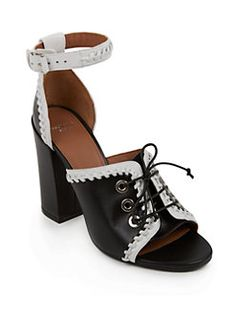 Givenchy - Lace-Up Leather Sandals