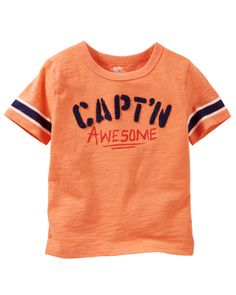 Toddler Boy Flocked Jersey Tee from OshKosh B'gosh. Shop clothing & accessories from a trusted name in kids, toddlers, and baby clothes.