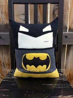 Superhero pillow cushion boy room decor nursery by telahmarie