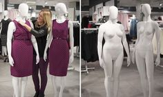 Debenhams launches size 16 mannequins to reflect average woman in the UK Well done Debenhams Oxford Street, Debenhams, Real Women, Size 16, Overalls, Product Launch, Fat, Dresses For Work, London