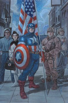 Captain America: Red, White & Blue by Brian Stelfreeze