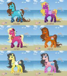 ariel sisters | Ariel's sisters as ponies by Kimberly-AJ-04-02