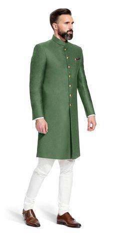 Indian Designer Mens Weddings Jodhpuri Green Achkan Indowestern Jodhpuri Sherwani Plus Size Availa Sherwani For Men Wedding, Wedding Dresses Men Indian, Mens Sherwani, Wedding Dress Men, Wedding Men, Sherwani Groom, Wedding Simple, Ethnic Wedding, Tuxedos