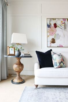Inside+a+Polished+Living+Room+With+Perfect+Pops+of+Color+via+@domainehome