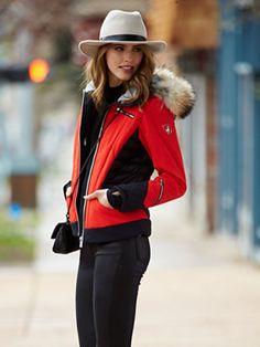 look like a professional ski diva: hedvig jacket