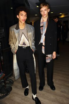 Backstage at the Paul Smith Men's Autumn/Winter '15 Show.