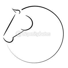 Horse head vector logo — Stock Illustration #38336309 Horse Drawings, Pencil Drawings, Art Drawings, Horse Head Drawing, Tattoo Caballo, Horse Stencil, Horse Logo, Horse Silhouette, Wire Art