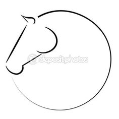 Logo vector cabeza de caballo — Ilustración de stock #38336309