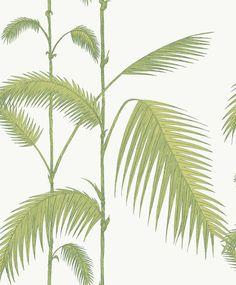 tienda online telas & papel   Papel pintado palmeras verde