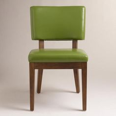 One of my favorite discoveries at WorldMarket.com: Green Sophia Bonded Leather Chairs, Set of 2