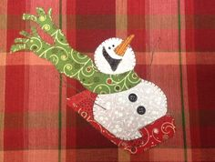 Looking for your next project? You're going to love Sledding Fun, A Really Cute Snowman by designer Quilt Doodle.