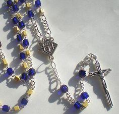Knights of Columbus Mini Rosary by MarysRosaryGarden on Etsy, $30.00