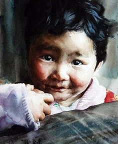 Китайский художник Liu Yunsheng. #watercolor jd
