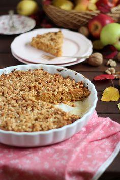 Apple Streusel Tart from Navarro {Rico sin Azucar} Apple And Almond Cake, Almond Cakes, My Recipes, Dessert Recipes, Favorite Recipes, Desserts, Vegan Recipes, Apple Streusel Cake, Sweet Tarts