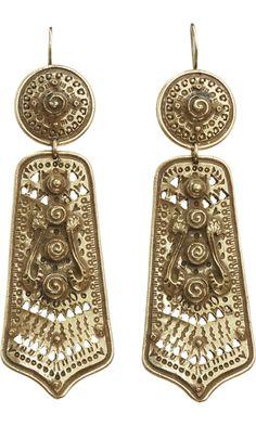 BIDERMANN  Bronze Mharaja Earrings