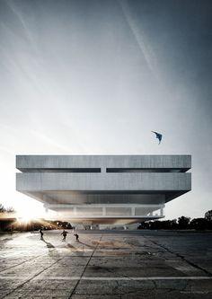 Zentral und Landesbibliothek Berlin #architecture #render
