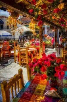Restaurante en Isla Janitzio Michoacan México.