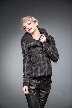 ECHTES LEDER Gothic Bolero Jacke S Schwarz Clubwear Lederbolero