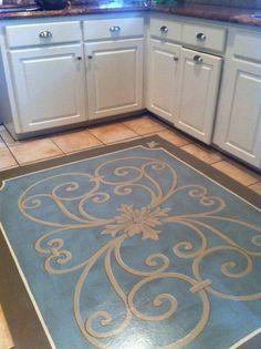Painted Floor Cloths On Pinterest Painted Floors Paint